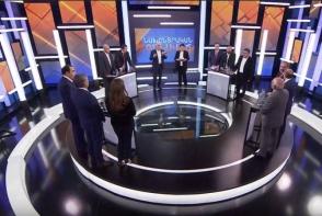 Предвыборные дебаты с участием первых номеров списков 11 политических сил (видео)