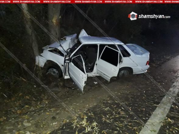 Գեղարքունիքի մարզում 26–ամյա վարորդը ВАЗ 21 1540 ավտոմեքենայով բախվել է ծառին. կա վիրավոր
