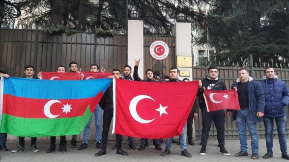 Ակցիա Թբիլիսիում՝ ի աջակցություն Սիրիայում Թուրքիայի գործողությունների