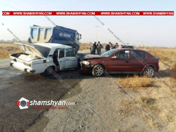 Արարատի մարզում բախվել են Opel-ն ու 06-ը. կա վիրավոր
