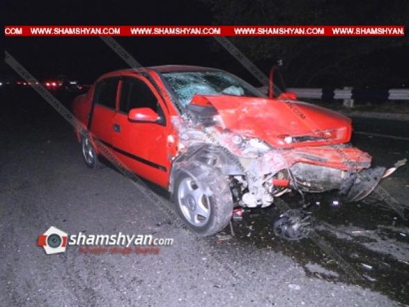 Կոտայքի մարզում բախվել են Mercedes-ը, Honda-ն, Opel-ը. կան վիրավորներ (տեսանյութ)
