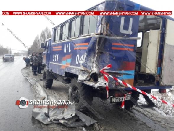 Կոտայքի մարզում ՌԴ քաղաքացին MAN բեռնատարով բախվել է քաղաքացուն օգնության հասած փրկարարների ավտոմեքենային. կա վիրավոր
