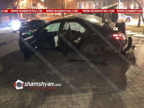 Երևանում բախվել են Toyota-ն ու Opel-ը. կա 5 վիրավոր