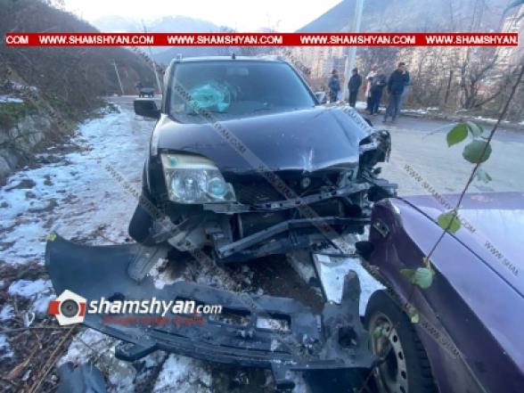 Սյունիքի մարզում բախվել են 38-ամյա վարորդի 06-ն ու 15-ամյա դպրոցականի վարած Nissan-ը