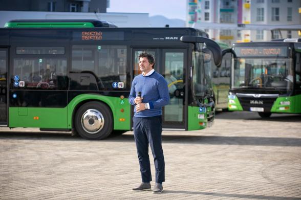 12 մետրանոց նոր ավտոբուսներ Թբիլիսիի փողոցներում