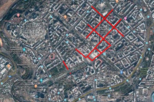 Մարտի 1-ին Երևանում բազմաթիվ փողոցներ փակ կլինեն