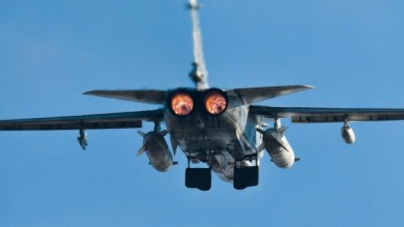 Истребитель Су-27 упал в акватории Черного моря