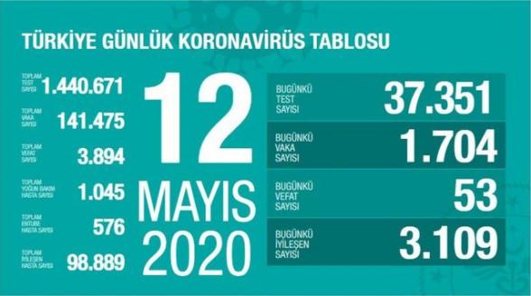 Թուրքիայում 1 օրում COVID-19-ից մահացել է 53 մարդ. ermenihaber