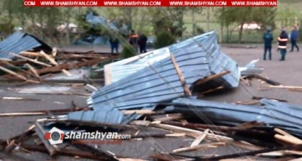 Լոռու մարզում ուժեղ քամին ավերածություններ է արել Լեռնանցք գյուղում