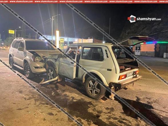 Ավտովթար Կապանում բախվել են «Lexus»-ն ու «Нива»-ն. կա վիրավոր