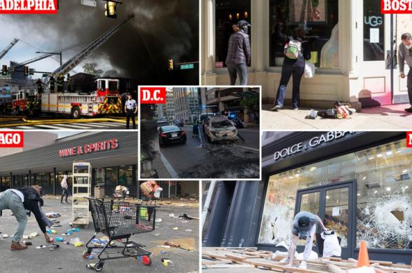 4000-ից ավելի ձերբակալված, ԱՄՆ գաղտնի ծառայության 50 վիրավոր աշխատակից և տասնյակ թալանված ու ավերված խանութներ․ ԱՄՆ-ում զանգվածային բողոքի ցույցերի 6-րդ օրը (լուսանկարներ, տեսանյութեր)