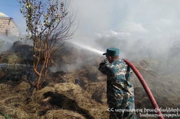 Հրդեհ` Ոսկեվազ գյուղում. այրվել է մոտ 200 հակ անասնակեր