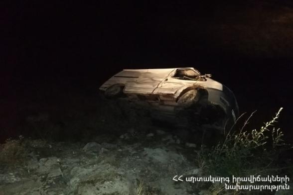 Մրգաշեն-Նոր Հաճն ավտոճանապարհին ավտոմեքենան ընկել է ձորակը. կան տուժածներ