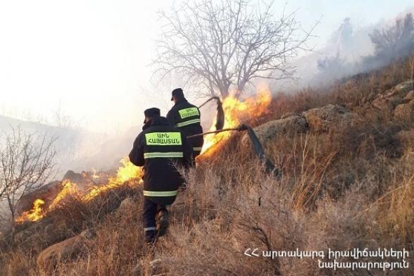 Հրշեջ-փրկարարները մարել են խոտածածկ տարածքներում բռնկված հրդեհները՝ ընդհանուր ընդգրկելով մոտ 26․6 հա տարածք