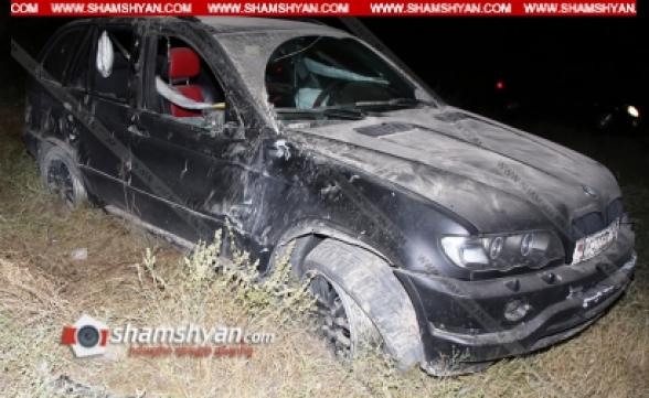 Կոտայքի մարզում 28-ամյա վարորդը BMW X5-ով բախվել է քարերին և հայտնվել ձորակում. կան վիրավորներ