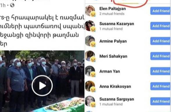 Ես չգիտեի, որ էսքան «յան» ազգանունով էակ ի վիճակի է ողբ կապել ադրբեջանցի զինվորի զոհվելու առիթով (լուսանկար)
