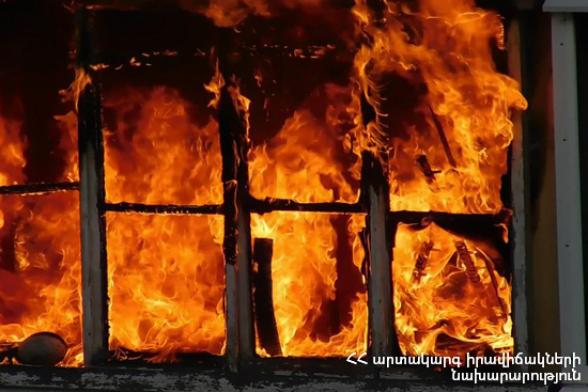Մովսես բնակավայրում այրվել է տուն