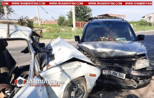 Արարատի մարզում ճակատ-ճակատի բախվել են Mitsubishi Chariot-ն ու ВАЗ 2106-ը. կա 1 զոհ, 2 վիրավոր