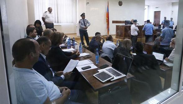 Заседание суда по делу Роберта Кочаряна и других (видео)
