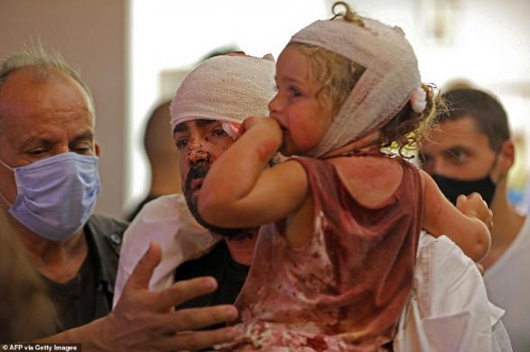 Բեյրութում հզոր պայթյունի զոհերի թիվը գերազանցել է 100-ը. Կարմիր խաչ (լուսանկար)