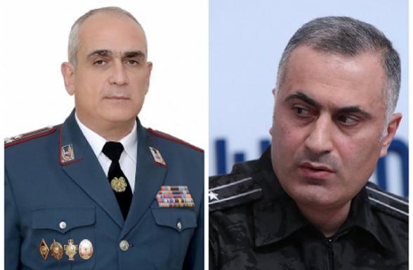 Աշխատանքից ազատման դիմում են ներկայացրել ՀՀ երկու փոխոստիկանապետերը