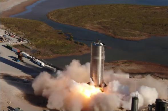 Прототип корабля для полетов на Марс «Starship» совершил первый полет (видео)