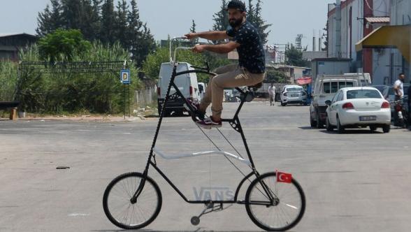 Թուրքիայիում «կորոնավիրուսից պաշտպանող» հեծանիվ են ստեղծել (լուսանկար)