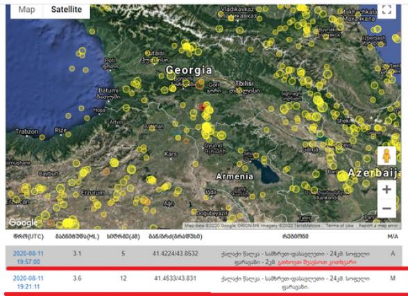Փարվանայում երկրաշարժ է գրանցվել