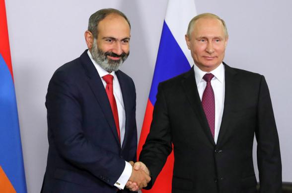 Состоялся телефонный разговор премьера Армении с президентом России