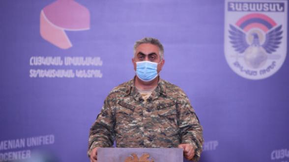 Ինտենսիվ մարտերը դեռ ընթանում են, Ադրբեջանն ունի մոտ 200 մարդկային կորուստ, մոտ 30 զրահատեխնիկայի և շուրջ 20 ԱԹՍ–ի կորուստ Ա․ Հովհաննիսյան (տեսանյութ)