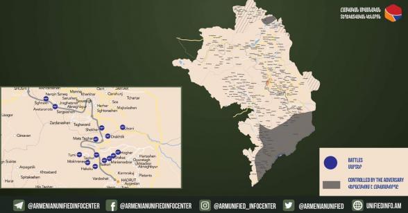На участке от Бердзора до берега Аракса армянским ВС удалось достичь улучшений в позициях