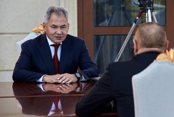 Шойгу обсудил обстановку в Карабахе с президентом и министром обороны Азербайджана
