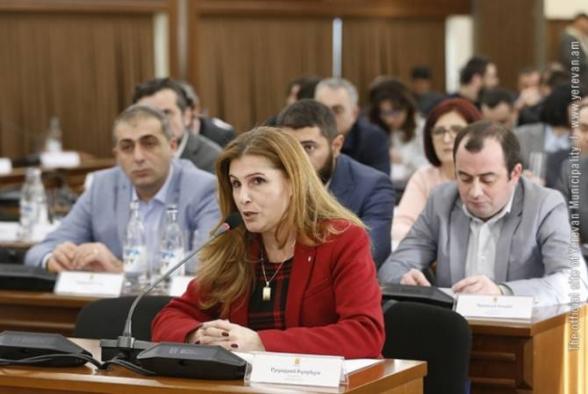 Изабелла Абгарян представила заявление о выходе из фракции «Мой шаг» Совета старейшин Еревана