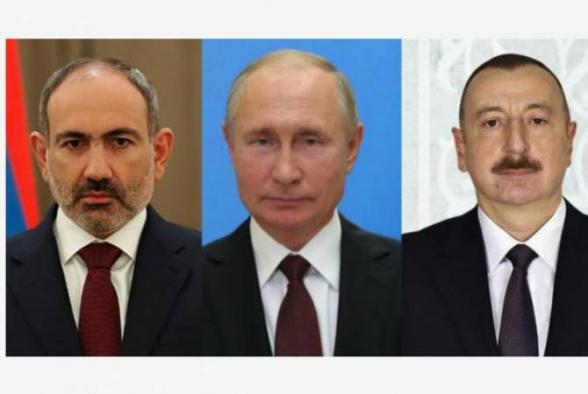 Путин обсудил с Алиевым и Пашиняном итоги поездки российской делегации в Баку и Ереван