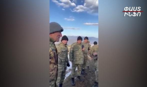 Արավուսի գյուղապետն իր ջոկատով գնացել է բանակցելու՝ ադրբեջանցիների հետ, որ չառաջանան (տեսանյութ)