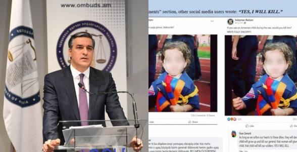 Ադրբեջանական սոցիալական ցանցերը լի են հայ երեխաների սպանելու, խոշտանգելու կոչերով․ ՀՀ ՄԻՊ