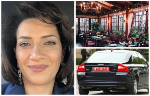 Анна Акопян в Москве встретилась с женщиной, приехавшей в машине с азербайджанским дипномером