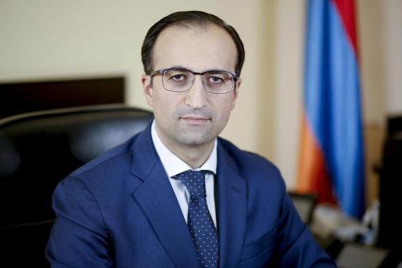 Арсен Торосян назначен руководителем аппарата премьер-министра
