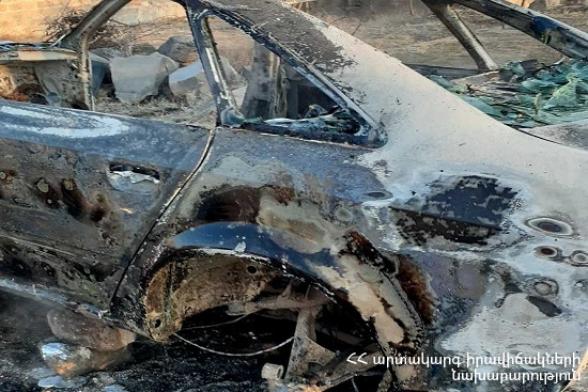 Փարաքար գյուղում այրվել է «Audi A6» մակնիշի չշահագործվող ավտոմեքենան