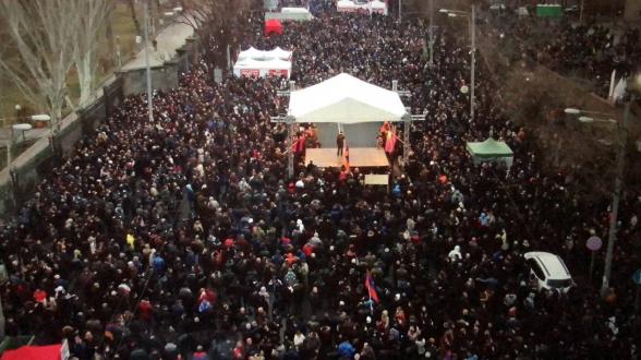 Митинг Движения по спасению Родины на проспекте Баграмяна (видео)