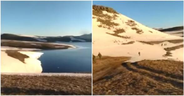 Ադրբեջանցիները տեսանյութ են հրապարակել Սյունիքի մարզի Սև լիճ տեղանքից