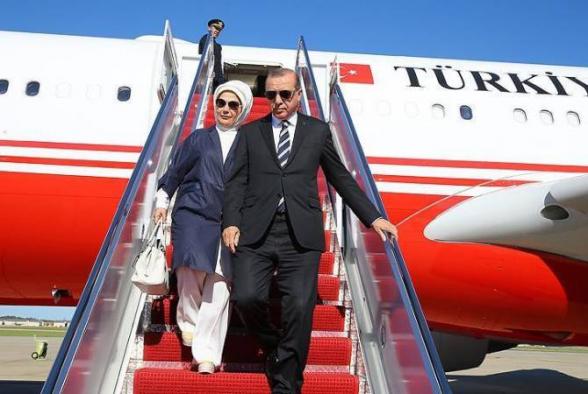 Эрдоган прибыл в Баку