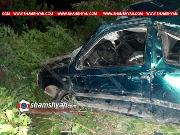 Տավուշի մարզում 33-ամյա վարորդը Volkswagen-ով բախվել է գազատար խողովակին. կա 1 զոհ, 1 վիրավոր