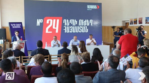 Предвыборная встреча блока «Армения» в Ашоцке (видео, фото)