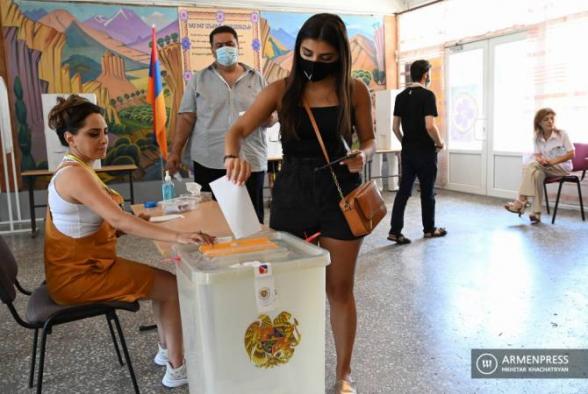 168 ընտրատեղամասերի տվյալները