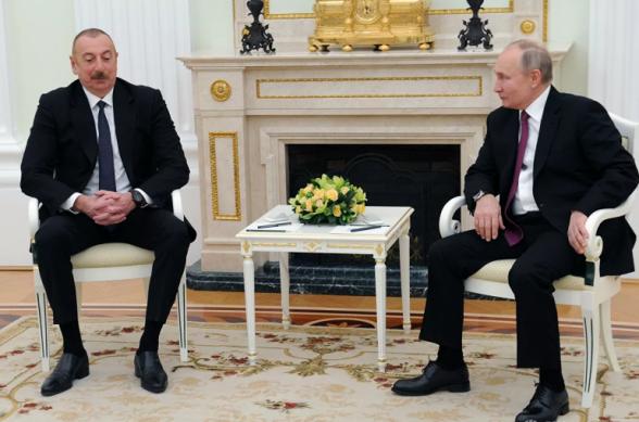 Путин и Алиев обсудили аспекты реализации трехсторонних договорённостей по Карабаху