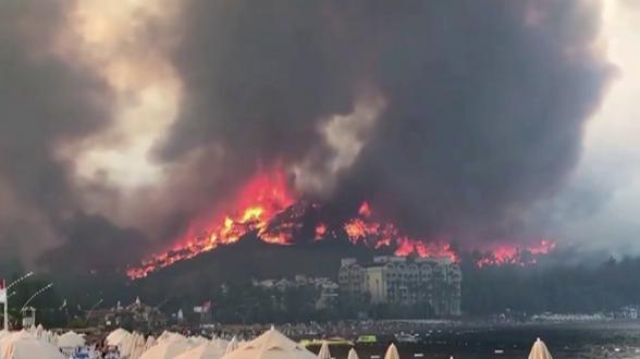 Интенсивность пожаров в Турции стала рекордной за всю историю наблюдений