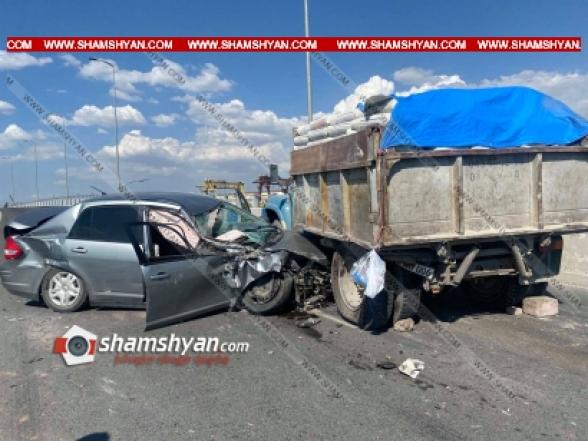 Երևանում բախվել են Toyota Land Cruiser-ը, Nissan-ն ու ЗИЛ-ը․ կան վիրավորներ
