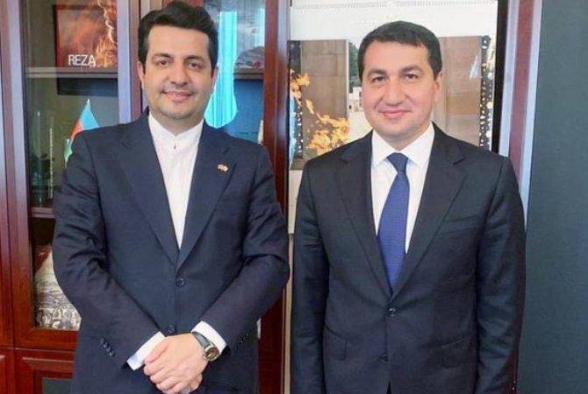 Կրկին հանդիպել են Ադրբեջանի նախագահի օգնականն ու Ադրբեջանում Իրանի դեսպանը