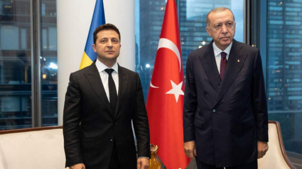 Зеленский поблагодарил Эрдогана за слова о непризнании Крыма частью РФ